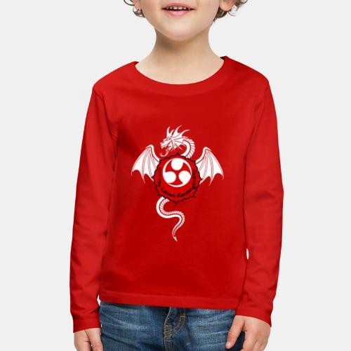 Dragon (W) - Larose Karate - Design Contest 2017 - Kids' Premium Long Sleeve T-Shirt