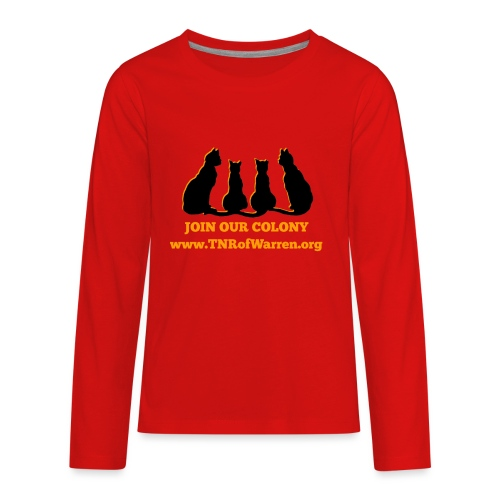 TNR JOIN OUR COLONY - Kids' Premium Long Sleeve T-Shirt