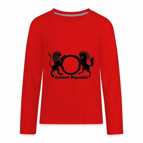 Atheist Republic Logo - Black - Kids' Premium Long Sleeve T-Shirt
