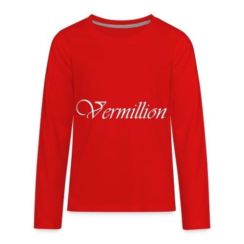 Vermillion T - Kids' Premium Long Sleeve T-Shirt