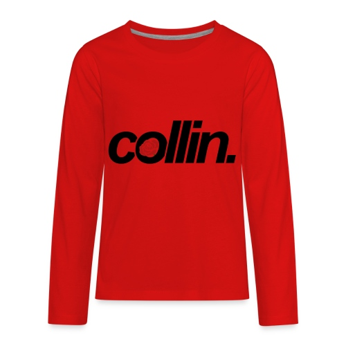 Collin. (Black w/ Rose) - Kids' Premium Long Sleeve T-Shirt