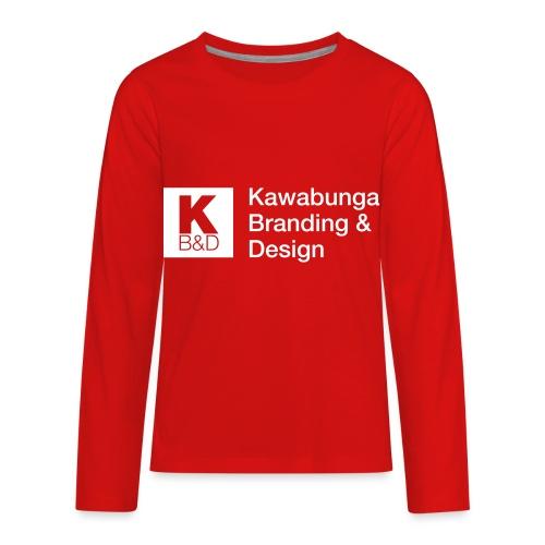 KBD Signature_blanc - Kids' Premium Long Sleeve T-Shirt