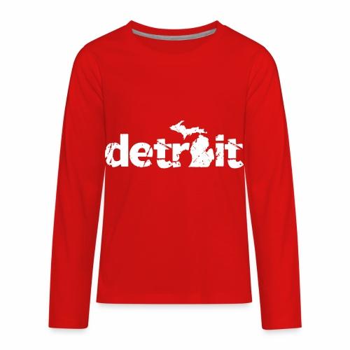DETROIT MICHIGAN - Kids' Premium Long Sleeve T-Shirt