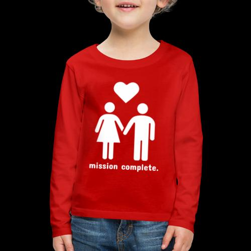 Mission Complete | In Love - Kids' Premium Long Sleeve T-Shirt