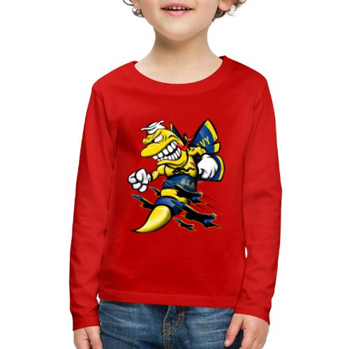 Cartoon Blue Angels F/A-18 Hornet - Kids' Premium Long Sleeve T-Shirt