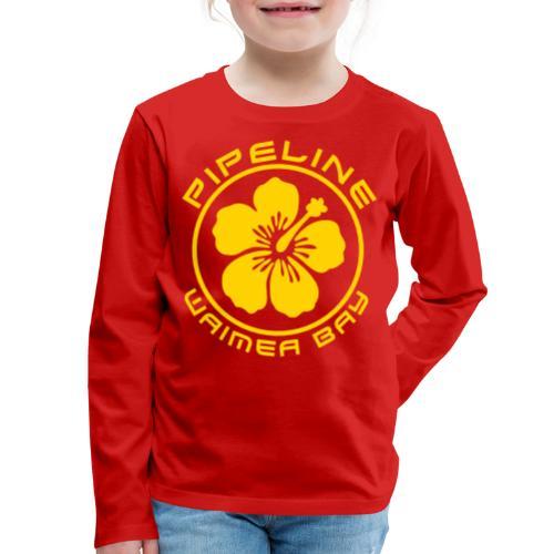 Pipeline at Waimea Bay-North Shore of Oahu, Hawaii - Kids' Premium Long Sleeve T-Shirt