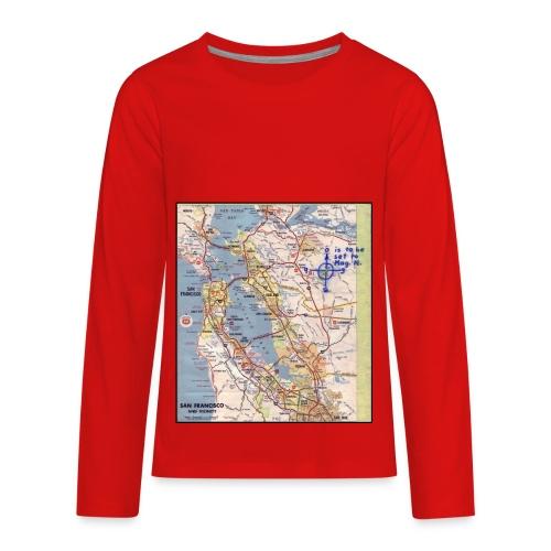 Phillips 66 Zodiac Killer Map June 26 - Kids' Premium Long Sleeve T-Shirt