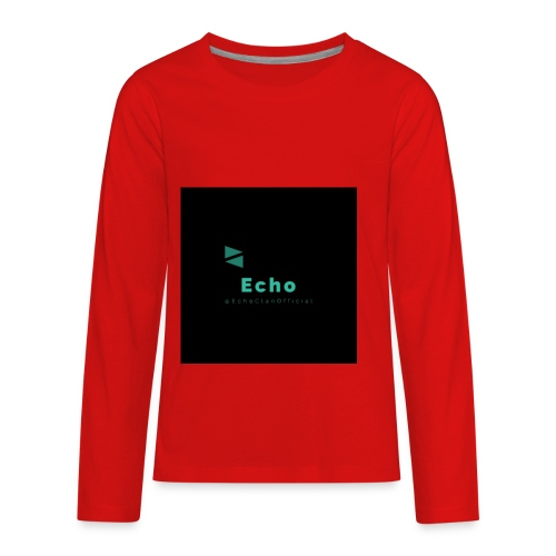 Echo Clan Offical Logo Merch - Kids' Premium Long Sleeve T-Shirt
