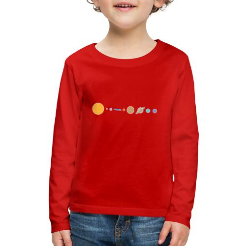 Flat earth conspiracy theory humor illustration - Kids' Premium Long Sleeve T-Shirt