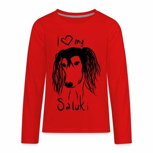 I love my saluki - Kids' Premium Long Sleeve T-Shirt