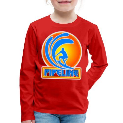 The Banzai Pipeline, North Shore, Oahu - Kids' Premium Long Sleeve T-Shirt
