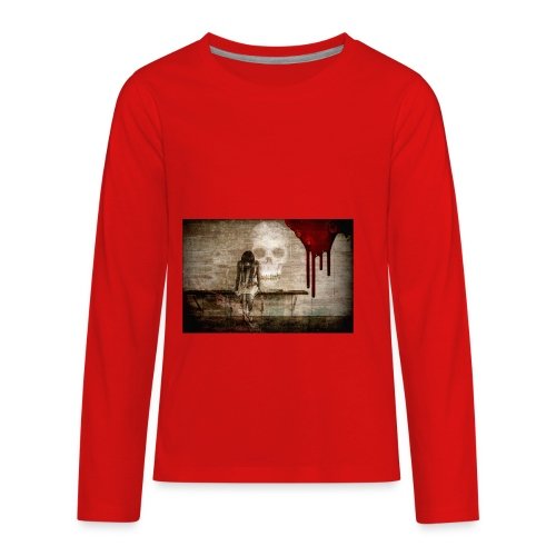 sad girl - Kids' Premium Long Sleeve T-Shirt