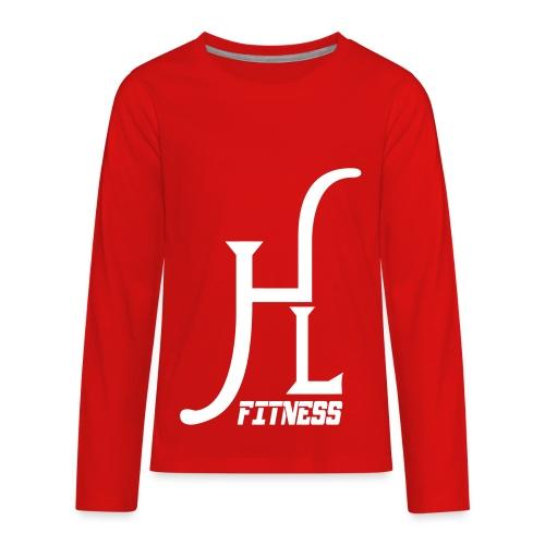 HLF Vector WHT - Kids' Premium Long Sleeve T-Shirt