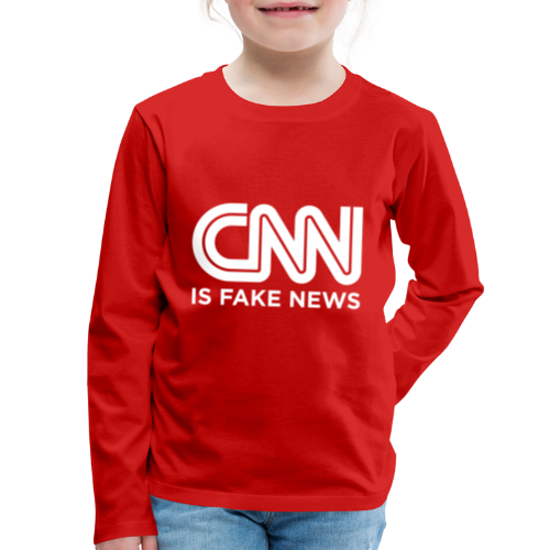 CNN Is Fake News - Kids' Premium Long Sleeve T-Shirt