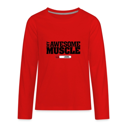 My Awesome Muscle - Dark Design - Kids' Premium Long Sleeve T-Shirt