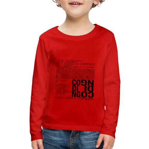 Coding - Kids' Premium Long Sleeve T-Shirt