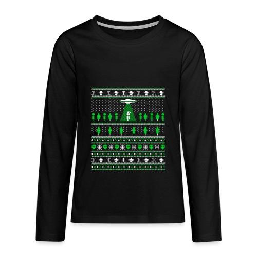 UFO ALIEN UGLY Christmas - Kids' Premium Long Sleeve T-Shirt