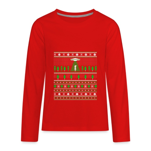 UFO ALIEN UGLY Christmas - Kids' Premium Long Sleeve T-Shirt