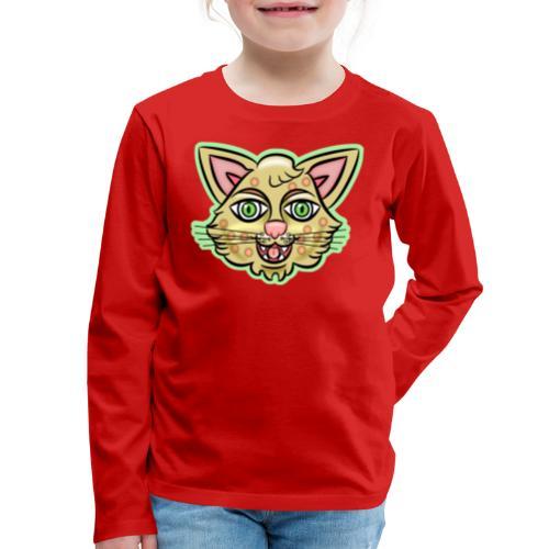 Happy Cat Gold - Kids' Premium Long Sleeve T-Shirt