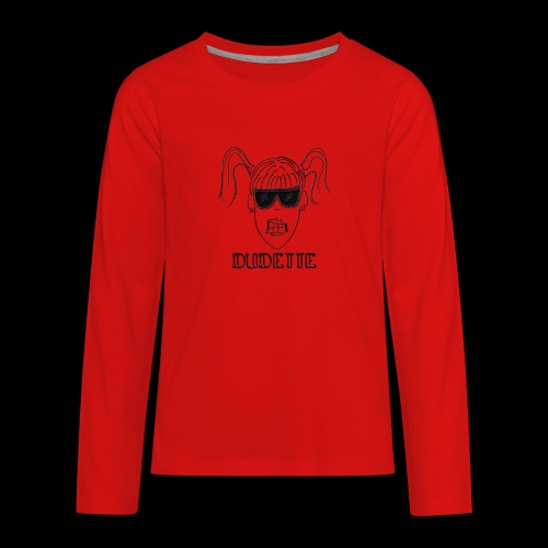Dudette Head 1 - Kids' Premium Long Sleeve T-Shirt