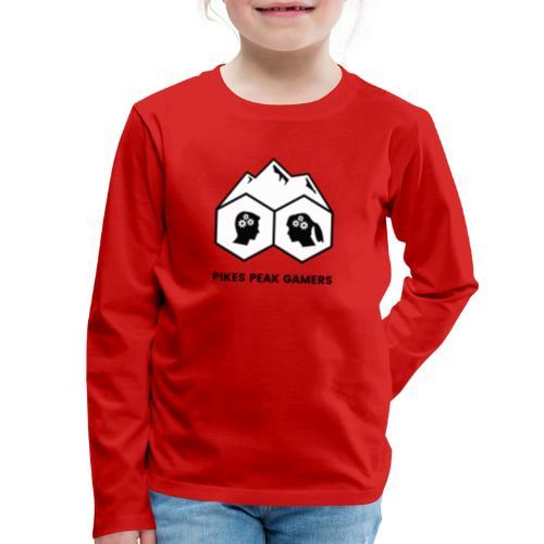 Pikes Peak Gamers Logo (Solid White) - Kids' Premium Long Sleeve T-Shirt