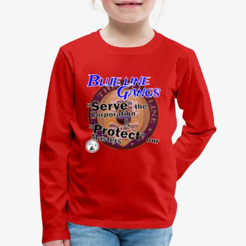 Thin Blue Line - To Serve and Protect - Kids' Premium Long Sleeve T-Shirt