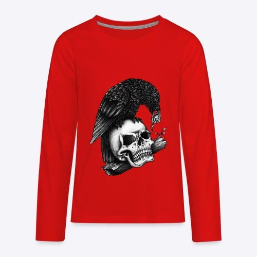 Skull Crow - Kids' Premium Long Sleeve T-Shirt