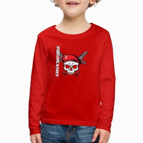 saskhoodz skull - Kids' Premium Long Sleeve T-Shirt