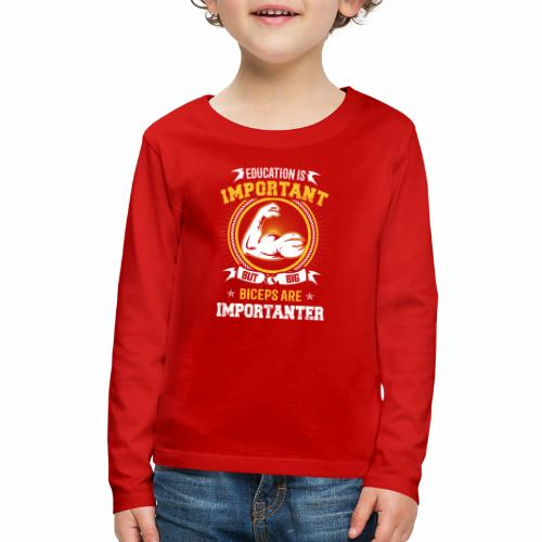 Workout is Important - Kids' Premium Long Sleeve T-Shirt