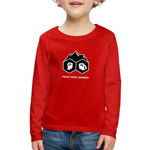 Pikes Peak Gamers Logo (Solid Black) - Kids' Premium Long Sleeve T-Shirt