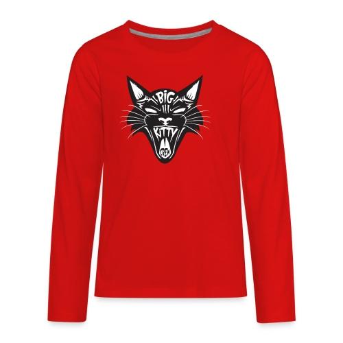 Big Kitty-Screaming Cat - Kids' Premium Long Sleeve T-Shirt
