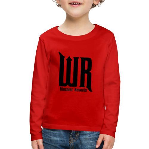 Wachler Records Dark Logo - Kids' Premium Long Sleeve T-Shirt