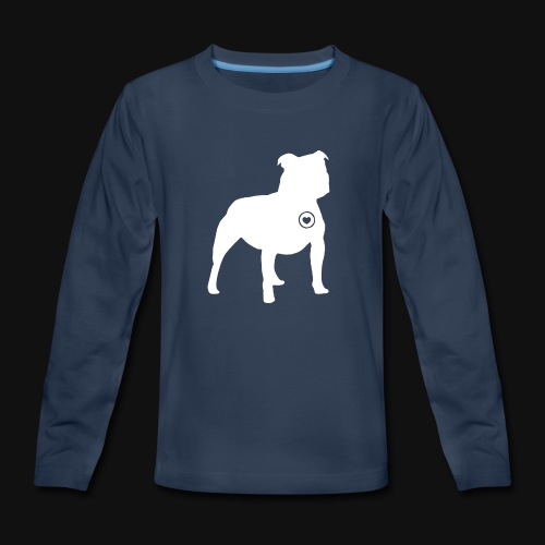 Staffy love - Kids' Premium Long Sleeve T-Shirt
