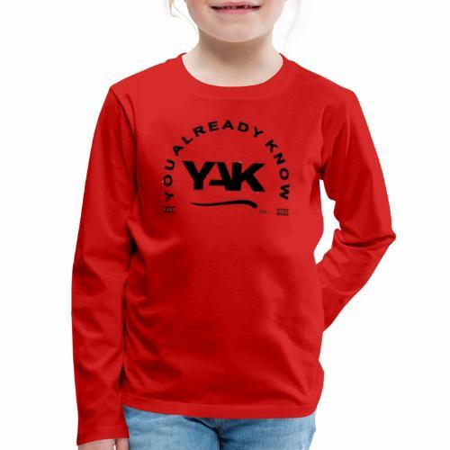 YAK Logos 10 - Kids' Premium Long Sleeve T-Shirt