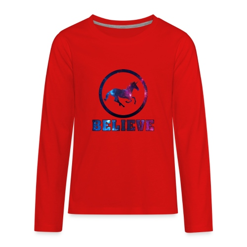 Believe Unicorn Universe 4 - Kids' Premium Long Sleeve T-Shirt