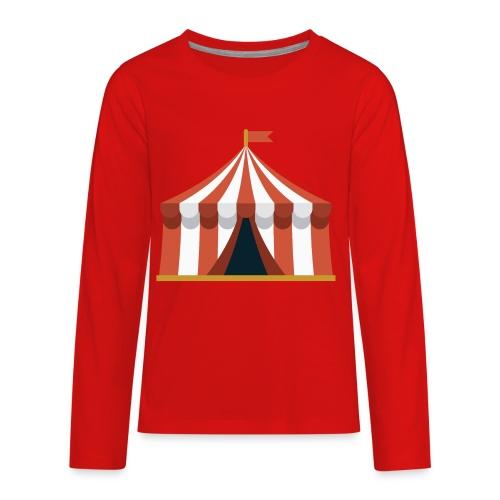 Striped Circus Tent - Kids' Premium Long Sleeve T-Shirt