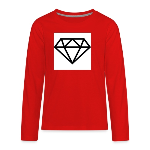 diamond outline 318 36534 - Kids' Premium Long Sleeve T-Shirt