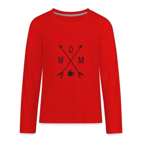 Mom Loves Coffee (black ink) - Kids' Premium Long Sleeve T-Shirt