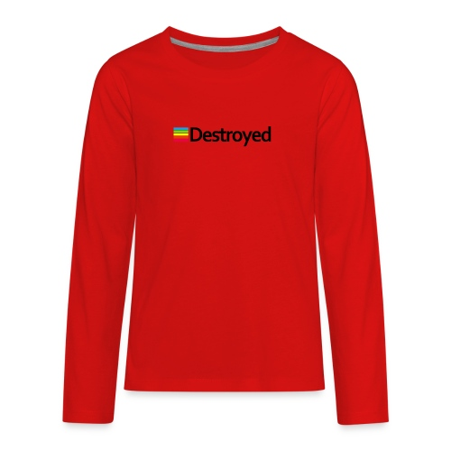 Polaroid Destroyed - Kids' Premium Long Sleeve T-Shirt