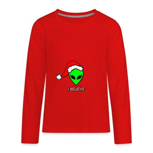 Santa Alien - Kids' Premium Long Sleeve T-Shirt