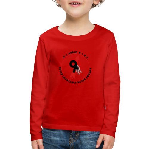 NINE Logo with Wings - Kids' Premium Long Sleeve T-Shirt