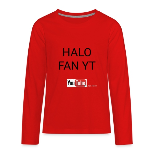Halo fan and fnaf YouTube channel merch - Kids' Premium Long Sleeve T-Shirt
