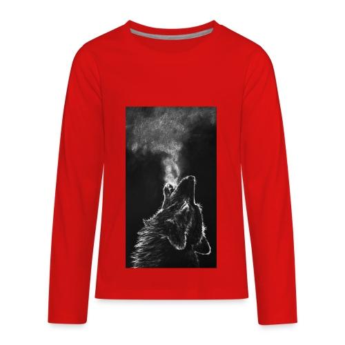 Wolf howl - Kids' Premium Long Sleeve T-Shirt