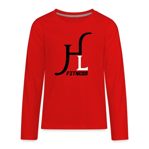 HIIT Life Fitness logo white - Kids' Premium Long Sleeve T-Shirt
