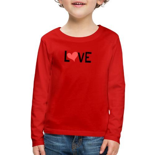 LOVE heart - Kids' Premium Long Sleeve T-Shirt