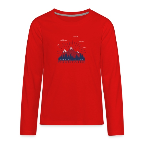 Adventure Mountains T-shirts and Products - Kids' Premium Long Sleeve T-Shirt