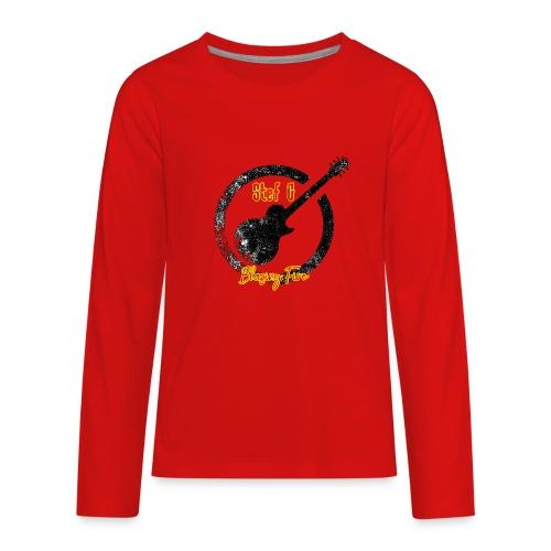 Stef G - Blazing Fire Design 1 - Kids' Premium Long Sleeve T-Shirt