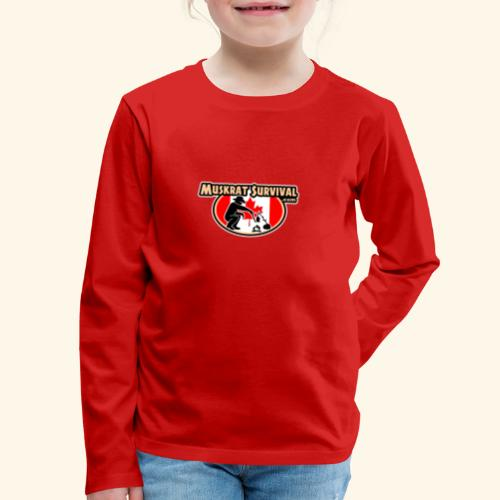 Muskrat Badge 2020 - Kids' Premium Long Sleeve T-Shirt