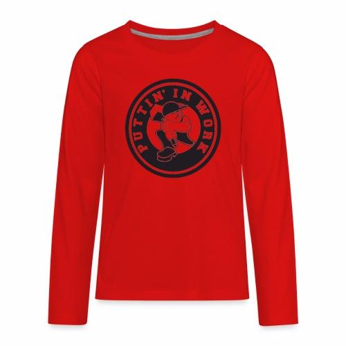 Puttin' In Work Apparel - Kids' Premium Long Sleeve T-Shirt