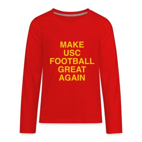 Make USC Football Great Again - Kids' Premium Long Sleeve T-Shirt
